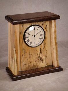 Clock Painting, Clock Art, Diy Clock, Mission Furniture, Craftsman Furniture, Diy Mantel Clocks, Wooden Clock Kits, Wooden Mantle, Desktop Clock