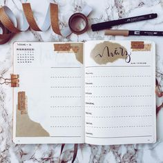 """238 Likes, 16 Comments - @preusselbeere.art on Instagram: """"Happy New Week ✨ This time I used some brown wrapping paper and washi tapi for my spread. What do…"""""""
