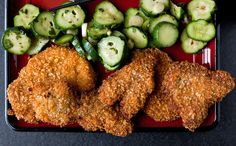 Pork Katsu With Pickled Cucumbers and Shiso Recipe - NYT Cooking