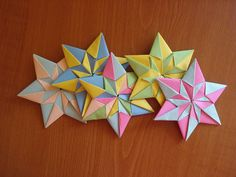 origami modular mennorode stars by sunset92, via Flickr