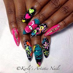 Image via We Heart It https://weheartit.com/entry/167914919 #nailart #nails #naildesign