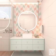Pink Bathroom: Designs & Decoration Photos - Home Fashion Trend Home Design Decor, Home Room Design, Home Interior Design, House Design, Home Decor, Bad Inspiration, Bathroom Inspiration, Pastel Bathroom, Bathroom Design Luxury