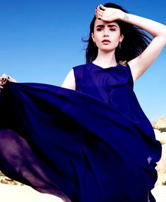 Lily Collins for Glamour Mexico.