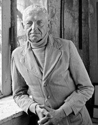 Andrew Wyeth in his studio.