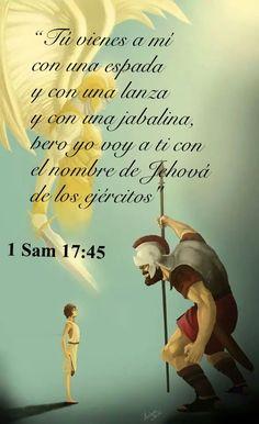 Ve a la batalla con el nombre de Jehová presente, no importa el tamaño de tu gigante!