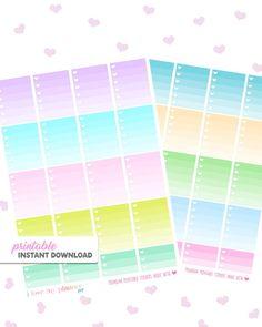 50% OFF SALE OMBRE Heart Checklist Neon by ilovemyplannershop