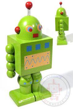 Buy Green Wooden Robot Gang of Four at TinToyArcade.com