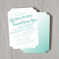 Sea Swash Wedding Invitations - Wedding Invitations - Wedding | Smitten on Paper