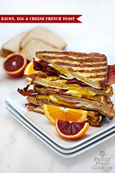 Bacon, Egg & Cheese French Toast | FamilyFreshCooking.com #backtoschool #lunchbox
