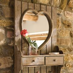 heart mirror with drawers by dibor | notonthehighstreet.com