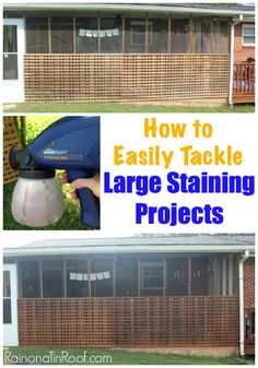 How to Easily Tackle Large Staining Projects via RainonaTinRoof.com #staining #homeright