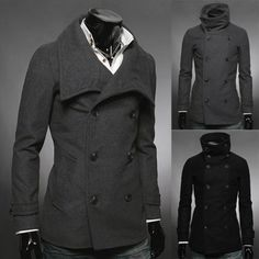 FR8111-Mens-Casual-TurtleNeck-Coat-Korea-Fashion-style-slim-fit-Top-Design-Trend
