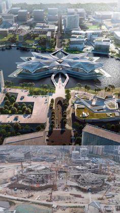 Zaha Hadid Architecture, Museum Architecture, Architecture Portfolio, Futuristic Architecture, School Architecture, Amazing Architecture, Landscape Architecture, Building Concept, Building Design