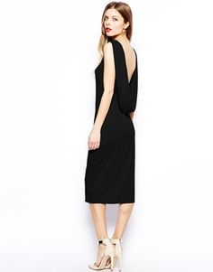 ASOS Drape Back Midi Dress Adorbssss need this in my life in the pale blue shade. Beyond lovely. Date Outfits, Dress Outfits, Centella, Full Circle Skirts, Guys And Girls, Fashion Addict, Passion For Fashion, Ideias Fashion, Dresses For Work