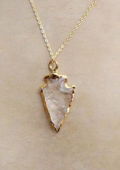 Quartz Arrowhead Necklace
