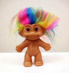 80s Russ Rainbow Hair 3 Inch Troll on Etsy, $6.50