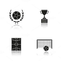 Soccer icons. Vector @creativework247