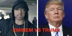 """Eminem vs Trump: Odio verso Trumo ma...è una strategia di Marketing. Eminem torna sotto riflettori, stavolta attraverso un video in cui critica le scelte politiche di Trump, e chiede ai suoi fan di scegliere tra lui e il presidente, che viene definito """"kamikaze"""". Tutt #trump #eminem #usa #politica #musica"""