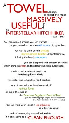 all u need to know can be known from  the hitchhickers guide to the galaxy