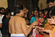 Priestly blessing at Pongal, East Ham