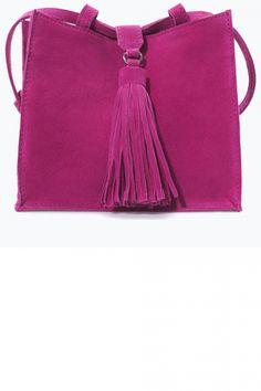 Zara Leather Messenger Bag With Fringes, £19.99