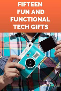 Need help choosing the perfect tech gift for a picky friend? The Lomo Instant Camera has a playful design, takes artsy photos, and uses readily-available Fuji Instant film. The Soundbot water resistant Bluetooth speaker will be a welcome addition to your friend's morning routine, allowing them to sing along to music in the shower. A wireless laser virtual keyboard makes typing so much easier, and takes up a lot less space! Read on as eBay shares 15 great tech gift ideas.