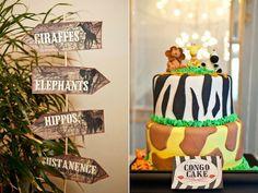 safari birthday party signs