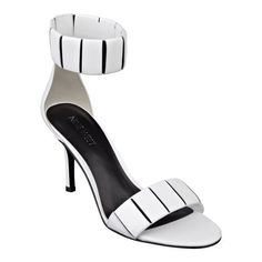 """Pretty, pretty! Meet one of the stars of the season. Gonesporty is a single-sole sandal with stretchy, extraordinarily comfortable ankle straps. Perfect with a cute, flowy dress. Padded footbed for all-day comfort. Leather upper. Man-made lining and sole. Imported. 3"""" mid heels."""