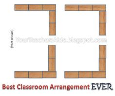 Best Classroom Desk Arrangement! Great for reading groups!  (YourTeachersAide.blogspot.com)