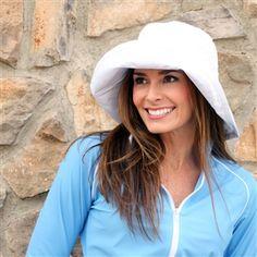 SPF/UPF 50+ - Super Cute Rolled Brim Summer Sun Hat for Ladies