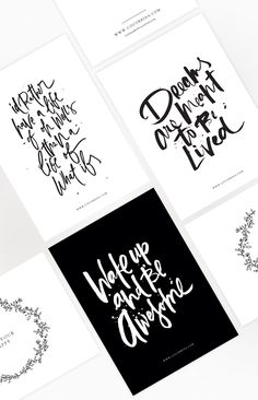 I wish I knew how I came across designer/lettering artist Corina Nika's work, I suppose it doesn't matter, it's just one of those happy discoveries that I couldn't wait to share with you. I didn't...