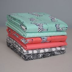 Mini Zebras by Michael Miller Fat Quarter Bundle from Lady Belle Fabric