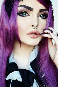 Septum and Lip Piercings