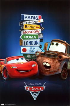 30 Day Disney Challenge, Day 19 - Least Favorite Pixar Movie: Cars 2