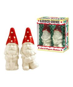 This gorgeous pair of gnome-shaped shakers is a whimsical way to spice up any meal. Crafted from attractive porcelain, they make delightful mealtime companions.