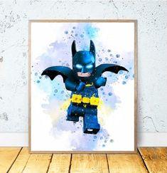 Batman PRINTABLE ART The LEGO Movie Batman Watercolor Digital   Etsy - Batman Printables - Ideas of Batman Printables #batman #printables #batmanprint - Hey I found this really awesome Etsy listing at www.etsy.com/ Printable Art, Printables, Lego Movie, Digital Prints, Batman, Watercolor, Superhero, Awesome, Handmade Gifts
