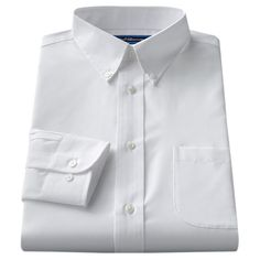 Men's Croft & Barrow® Fitted Solid Broadcloth Button-Down Collar Dress Shirt,