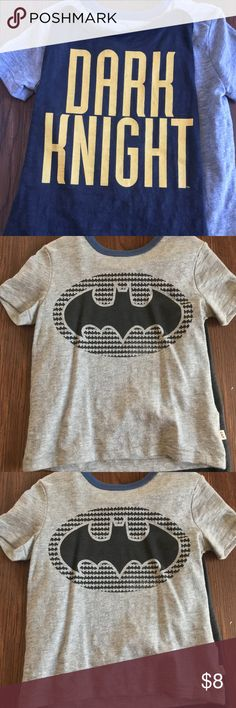 Baby Gap Batman Dark Knight cape T-shirt 2T New without tags, garment never worn. Adorable grey T-shirt with detachable cape. Size 2T. Purchased by me at Baby Gap. Check out my other listings to bundle and save on shipping!! GAP Shirts & Tops Tees - Short Sleeve