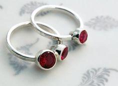<3 Handmade ruby rings.