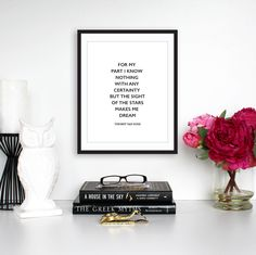 """Motivational Print, """"For My Part I Know Nothing"""" Vincent Van Gogh Quote, Instant Download, Printable Quote, Typography Print by TheDesignHouzz on Etsy"""