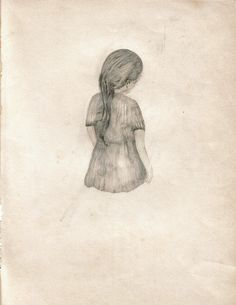 Maria Lamar - Illustration - Character back in black and white