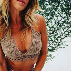 zulahome:: Just in case you forgot how amazing she looks in my top (killer abs sold separately). Happy Friday y'all!      #crochet #crochetaddict #boho #bohostyle #bohochic #bohemian #festivalstyle #makersgonnamake #handmade #croptop #crochettop #bikini #yogagirl #yoga #zulahomeandcandle #etsyseller #etsy #howdarling #creativityfound #ourmakerlife #yarn #miamibeach
