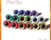 12 mm Hand Painted Safety Eyes Plastic Eyes Animal Eyes PEARL EYES - 8 PAIRS (12hp8)