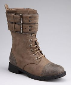 Take a look at this Brown Buckle Nancy Boot by Blow-Out on @zulily today!