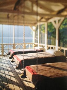 screened in porch & a lake, I could definitely sleep here.