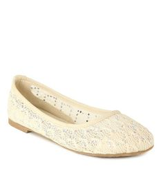 Look what I found on #zulily! Beige Lace Flat by Anna Shoes #zulilyfinds
