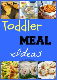 A Plethora of Ponderings: From My Kitchen: Toddler Meal Ideas