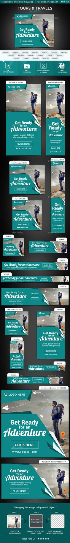 Tours & Travels Web Banners Template PSD. Download here: http://graphicriver.net/item/tours-travels-banners/15101519?ref=ksioks