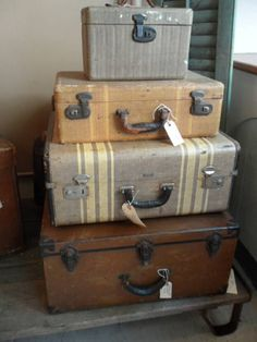 I have always loved old luggage have several pieces great for storage