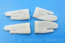 WHITE Short OR Long  Gloves Pair for Barbie Doll NYLON TRICOT